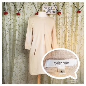 TYLER BOE CREAM STRETCHY BUSINESS CASUAL TUNIC TOP